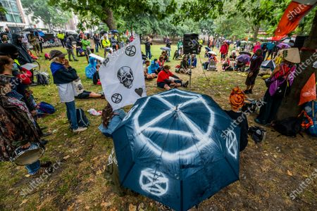 The Extinction Rebellion Rebel Trail walkers and protest against HS2 arrives at the end of its journey, which involved walking along the proposed route. The eased 'lockdown' continues for the Coronavirus (Covid 19) outbreak in London.