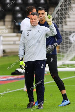 Derby County goalkeeper coach Shay Given ahead of the EFL Sky Bet Championship match between Derby County and Reading at the Pride Park, Derby