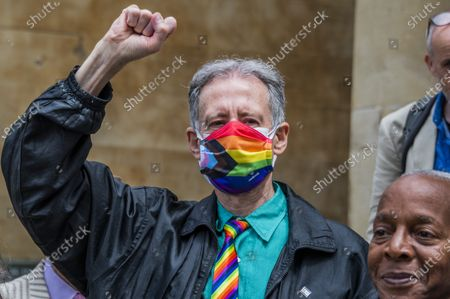 The Pride in London parade has been postponed due to the coronavirus pandemic. But veterans from the London Gay Liberation Front 1970-74, including Peter Tatchell, march on the same day, along the same route. They celebrate this year's 50th anniversary of the London Gay Liberation Front, of which they were a part. GLF was formed in 1970 and is generally credited with being the beginning of the modern LGBT+ movement in the UK. They started outside the BBC in Portland Place W1 and the ex-GLF marchers, some in their 70s, wore face masks and ensured social distancing.