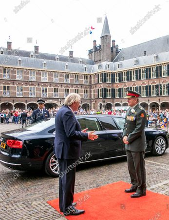 Stock Picture of King Willem-Alexander during Veterans Day 2020. In the Ridderzaal in The Hague, The Netherlands.