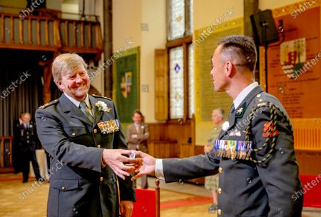 King Willem-Alexander during Veterans Day 2020. In the Ridderzaal in The Hague, The Netherlands.