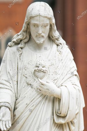 Editorial image of Portrayal of Jesus as white, Wimbledon, London, UK - 27 Jun 2020
