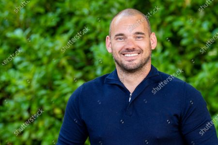 Former Dutch soccer player Wesley Sneijder during the presentation of his biography Sneijder about his life as the national team's record holder.