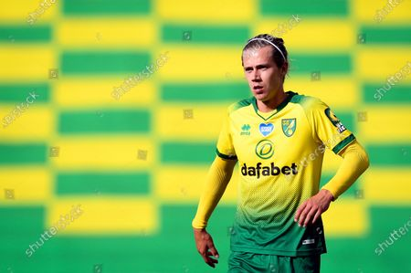 Todd Cantwell of Norwich reacts during the English FA Cup quarter final soccer match between Norwich City and Manchester United in Norwich, Britain, 27 June 2020.