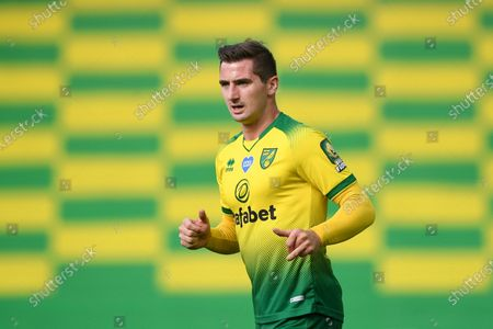 Kenny McLean of Norwich in action during the English FA Cup quarter final soccer match between Norwich City and Manchester United in Norwich, Britain, 27 June 2020.