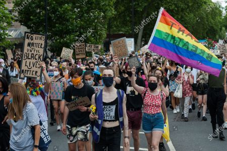 Thousands of transgender people and their supporters march through central London to Parliament Square to celebrate the Black trans community, commemorate the Black trans lives lost and protest against potential changes to the Gender Recognition Act.
