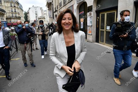 Agnes Buzyn, La Republique en Marche (LREM) candidate in the 2020 mayoral elections leaves the polling station after voting in the second round of the mayoral elections, in the 5th district of Paris, France, 28 June 2020. The second round of municipal elections was to be held on 22 March 2020 but was delayed due to the spread of the coronavirus pandemic causing the Covid-19 disease.