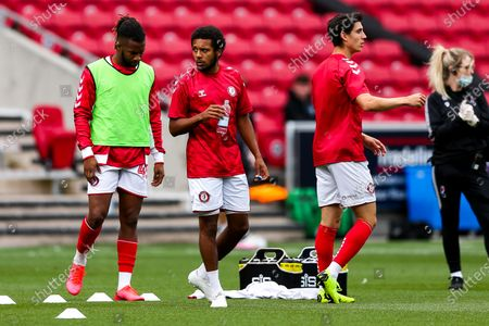 Korey Smith of Bristol City looks on