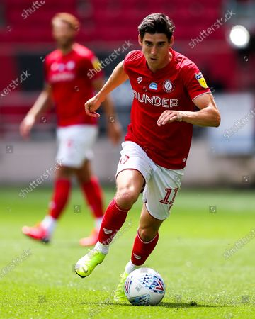 Callum O'Dowda of Bristol City in action