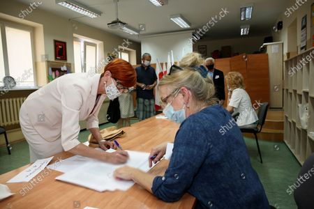 Editorial picture of Voting in Poland's presidential elections, Gorzow Wielkopolski - 28 Jun 2020