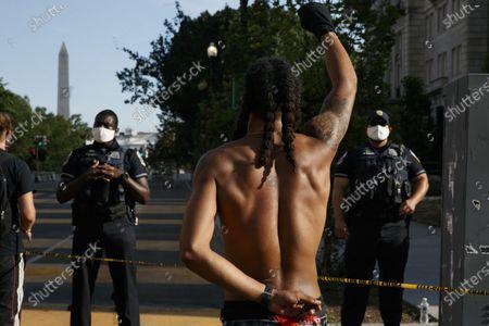 Editorial photo of Racial Injustice Nation's Capital, Washington, United States - 24 Jun 2020