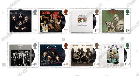 A set of 13 stamps are being issued as a tribute to the musical contribution of rock band Queen.The UK's Royal Mail hailed the quartet as one of the most popular and enduring groups of all time.Eight stamps will feature images of some of their most popular and iconic album covers: Queen II, 1974; Sheer Heart Attack, 1974; A Night at the Opera, 1975; News of the World, 1977; The Game, 1980; Greatest Hits, 1981; The Works, 1984; and Innuendo, 1991Drummer Roger Taylor said: What an honour. We must be really part of the furniture now! And guitarist Brian May said: It's hard to put into words what I feel when looking at these beautiful stampsRenowned for the extravagance of their stage shows, Queen's live performances are celebrated in a miniature sheet of additional stamps.These show images fro gigs at three London venues --Wembley Stadium, 1986; Hyde Park, 1976 and Hammersmith Odeon, 1975.The fourth stamp is a performance in Budapest, Hungary, 1986.Each shows off a member of the band -- late singer Freddie Mercury at Wembley Stadium,; Roger Taylor at Hyde Park,; now retired bass player John Deacon at Hammersmith Odeon and Brian May in Budapest.Also included in the miniature-sheet is the iconic shot taken at the group's first ever studio photo shoot in a Primrose Hill studio in 1974The stamps will go on general sale from 9 July 2020A Royal Mail spokeswoman said: With more than 300 million record sales across five decades, they are one of the most successful music artists of all time.Pix: Some of the new Queen stamps showing eight album sleeves