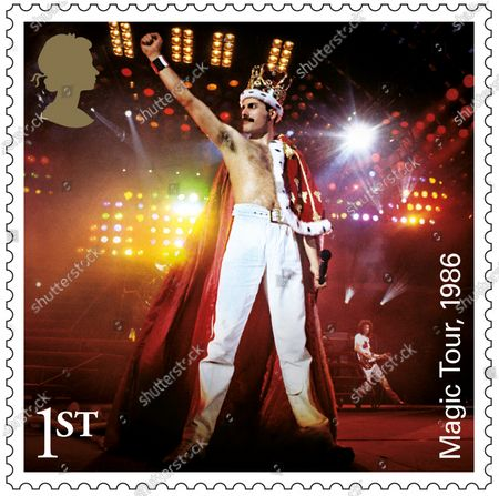 A set of 13 stamps are being issued as a tribute to the musical contribution of rock band Queen.The UK's Royal Mail hailed the quartet as one of the most popular and enduring groups of all time.Eight stamps will feature images of some of their most popular and iconic album covers: Queen II, 1974; Sheer Heart Attack, 1974; A Night at the Opera, 1975; News of the World, 1977; The Game, 1980; Greatest Hits, 1981; The Works, 1984; and Innuendo, 1991Drummer Roger Taylor said: What an honour. We must be really part of the furniture now! And guitarist Brian May said: It's hard to put into words what I feel when looking at these beautiful stampsRenowned for the extravagance of their stage shows, Queen's live performances are celebrated in a miniature sheet of additional stamps.These show images fro gigs at three London venues --Wembley Stadium, 1986; Hyde Park, 1976 and Hammersmith Odeon, 1975.The fourth stamp is a performance in Budapest, Hungary, 1986.Each shows off a member of the band -- late singer Freddie Mercury at Wembley Stadium,; Roger Taylor at Hyde Park,; now retired bass player John Deacon at Hammersmith Odeon and Brian May in Budapest.Also included in the miniature-sheet is the iconic shot taken at the group's first ever studio photo shoot in a Primrose Hill studio in 1974The stamps will go on general sale from 9 July 2020 A set of four show the group in concert, highlighting each member. Freddie Mercury, Wembley, 1996
