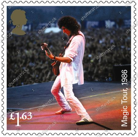 A set of 13 stamps are being issued as a tribute to the musical contribution of rock band Queen.The UK's Royal Mail hailed the quartet as one of the most popular and enduring groups of all time.Eight stamps will feature images of some of their most popular and iconic album covers: Queen II, 1974; Sheer Heart Attack, 1974; A Night at the Opera, 1975; News of the World, 1977; The Game, 1980; Greatest Hits, 1981; The Works, 1984; and Innuendo, 1991Drummer Roger Taylor said: What an honour. We must be really part of the furniture now! And guitarist Brian May said: It's hard to put into words what I feel when looking at these beautiful stampsRenowned for the extravagance of their stage shows, Queen's live performances are celebrated in a miniature sheet of additional stamps.These show images fro gigs at three London venues --Wembley Stadium, 1986; Hyde Park, 1976 and Hammersmith Odeon, 1975.The fourth stamp is a performance in Budapest, Hungary, 1986.Each shows off a member of the band -- late singer Freddie Mercury at Wembley Stadium,; Roger Taylor at Hyde Park,; now retired bass player John Deacon at Hammersmith Odeon and Brian May in Budapest.Also included in the miniature-sheet is the iconic shot taken at the group's first ever studio photo shoot in a Primrose Hill studio in 1974The stamps will go on general sale from 9 July 2020A set of four show the group in concert, highlighting each member. Brian May, Budapest, 1986