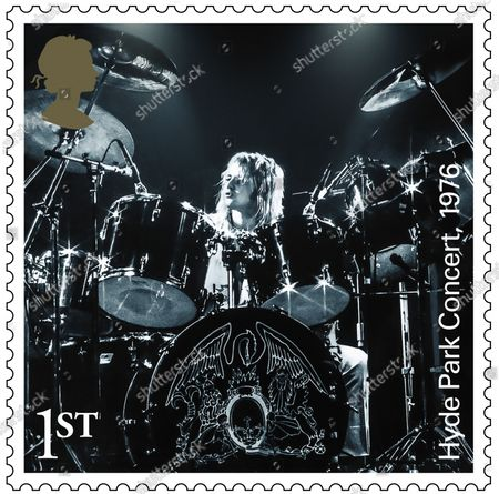 A set of 13 stamps are being issued as a tribute to the musical contribution of rock band Queen.The UK's Royal Mail hailed the quartet as one of the most popular and enduring groups of all time.Eight stamps will feature images of some of their most popular and iconic album covers: Queen II, 1974; Sheer Heart Attack, 1974; A Night at the Opera, 1975; News of the World, 1977; The Game, 1980; Greatest Hits, 1981; The Works, 1984; and Innuendo, 1991Drummer Roger Taylor said: What an honour. We must be really part of the furniture now! And guitarist Brian May said: It's hard to put into words what I feel when looking at these beautiful stampsRenowned for the extravagance of their stage shows, Queen's live performances are celebrated in a miniature sheet of additional stamps.These show images fro gigs at three London venues --Wembley Stadium, 1986; Hyde Park, 1976 and Hammersmith Odeon, 1975.The fourth stamp is a performance in Budapest, Hungary, 1986.Each shows off a member of the band -- late singer Freddie Mercury at Wembley Stadium,; Roger Taylor at Hyde Park,; now retired bass player John Deacon at Hammersmith Odeon and Brian May in Budapest.Also included in the miniature-sheet is the iconic shot taken at the group's first ever studio photo shoot in a Primrose Hill studio in 1974The stamps will go on general sale from 9 July 2020 A set of four show the group in concert, highlighting each member. Roger Taylor Hyde Park, 1976