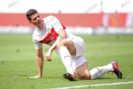 Stock Picture of Mario Gomez of Stuttgart reacts after scoring the 1-1 equalizer during the German Bundesliga Second Division soccer match between VfB Stuttgart and SV Darmstadt 98 in Stuttgart, Germany, 28 June 2020.