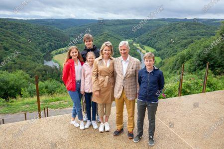 Belgium Royal Familly visit Genk