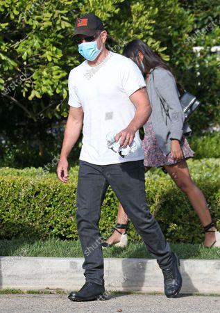 Stock Image of Matt Damon and Luciana Damon