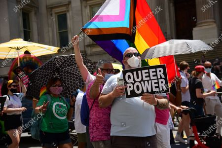 Editorial photo of Black Lives Matter and Pride march, New York, USA - 285 Jun 2020