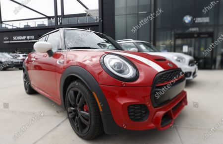Graph, an unsold 2020 Cooper S hardtop with the John Cooper Works package sits at a Mini dealership in Highlands Ranch, Colo