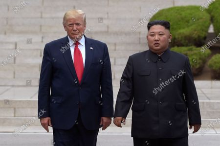 President Donald Trump, left, meets with North Korean leader Kim Jong Un at the North Korean side of the border at the village of Panmunjom in Demilitarized Zone. Trump is still waiting for his two years of one-on-one diplomacy with Kim Jong Un to pay off with a deal that eliminates the threat of North Korea's nuclear weapons