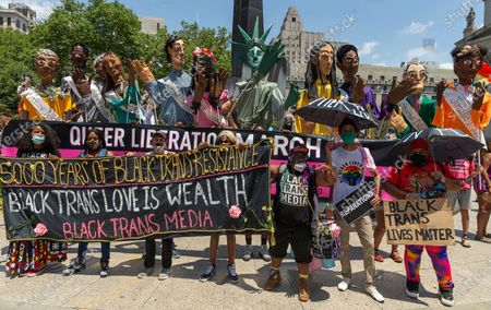 Editorial image of NY: Queer Liberation march and rally, New York, United States - 28 Jun 2020
