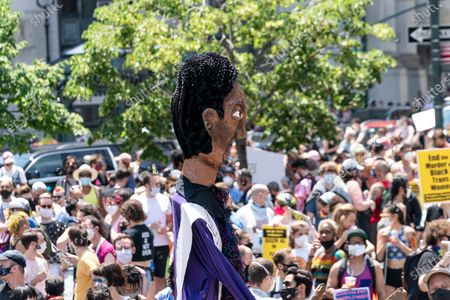 Editorial photo of NY: Queer Liberation march and rally, New York, United States - 28 Jun 2020