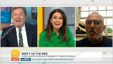 Piers Morgan, Susanna Reid and Sir Ian Botham