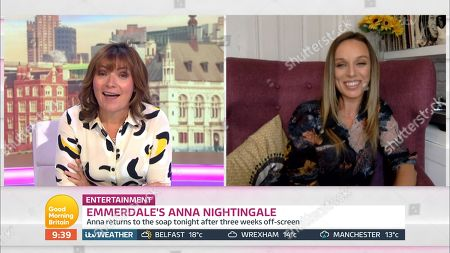 Lorraine Kelly and Anna Nightingale