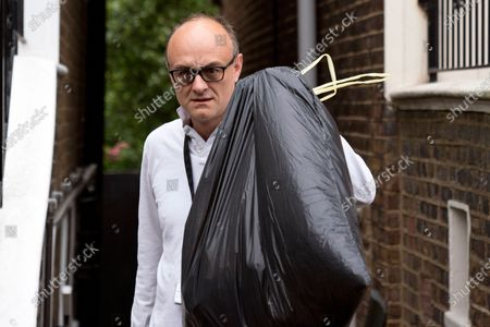 British Prime Minister Boris Johnson's Special Advisor, Dominic Cummings leaves his home in London, Britain, 29 June 2020. It has been reported Mr. Cummings is helping British Prime Minister Boris Johnson with reforms and changes to how the British civil service operates following Cabinet Secretary and National Security advisor Sir Mark Sedwill announcing he is due to step down in September.