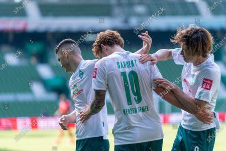 Milot Rashica (Werder Bremen #07), Joshua Sargent (Werder Bremen #19), Yuya Osako (Werder Bremen #08)
