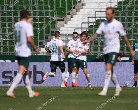 5-0: Marco Friedl (Werder Bremen), Milot Rashica (Werder Bremen) and Yuya Osako (Werder Bremen), Niklas Moisander (Werder Bremen) and Kevin Vogt (Werder Bremen)
