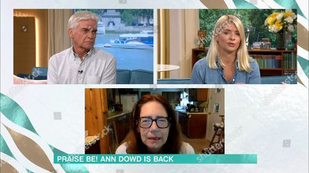 Stock Picture of Phillip Schofield, Holly Willoughby and Ann Dowd