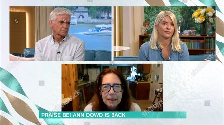 Phillip Schofield, Holly Willoughby and Ann Dowd