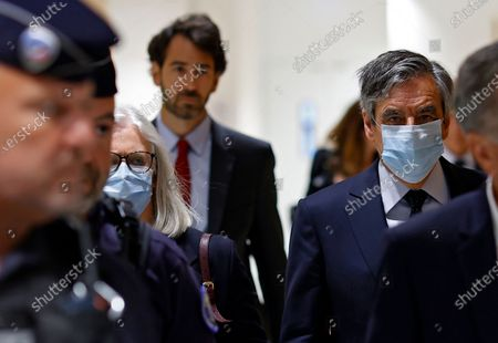 Editorial image of Trial of ex-French Prime Minister Fillon and his wife in Paris, France - 29 Jun 2020