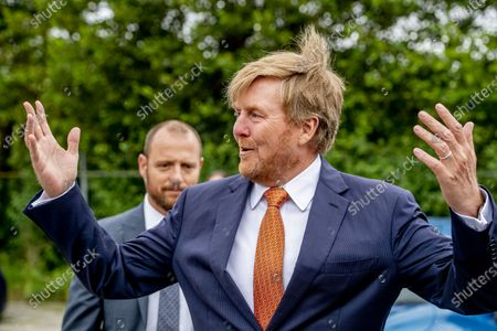 "Stock Photo of King Willem-Alexander during a working visit to Gilde Stadstuiniers Zoetermeer in the Hof van Seghwaert. In 2015, the Gilde Stadstuiniers took the initiative for ""The power of green Zoetermeer"". The Oranje Fonds has financially supported this three-year project. King Willem-Alexander and Queen Máxima are the patron couple of the Orange Fund."