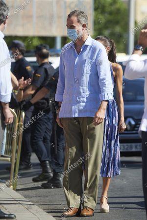 King Felipe VI visits Poligono Sur and the 'El Esqueleto' Civic Center and the Social Center of the 'Don Bosco Foundation' in Seville, Spain