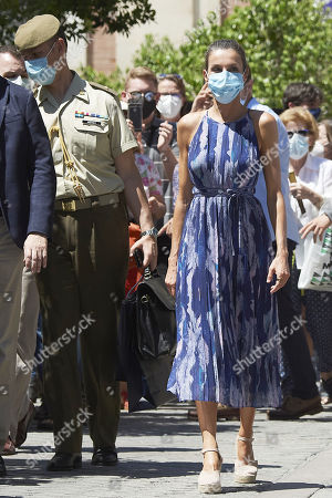 Queen Letizia visits the Cathedral of Seville and the Real Alcazar in Seville, Spain