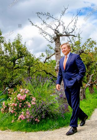 King Willem Alexander during a working visit to the Gilde Stadstuiniers (urban gardening) Zoetermeer