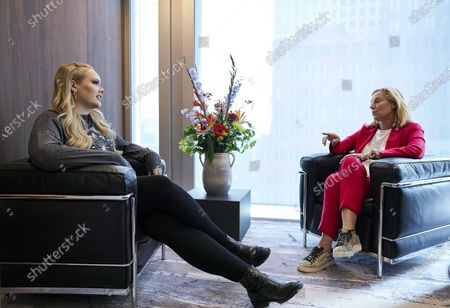 Nikkie de Jager, better known as NikkieTutorials, speaks during a meeting with Minister Sigrid Kaag, of Foreign Trade and Development Cooperation, at the ministry in The Hague, The Netherlands, 29 June 2020. As an ambassador for the Dutch UN organization NVVN, the makeup artist and YouTube star spoke about the work of the UN, particularly in the field of gender equality and combating inequality.