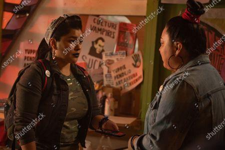 Chelsea Rendon as Mari and Elizabeth De Razzo as Yoli