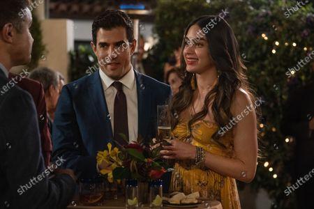 Stock Image of Bernardo Cubria as Juan Pablo, Adrian Gonzalez as Rudy Marquez and Melissa Barrera as Lyn