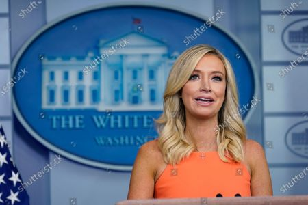 Stock Photo of White House press secretary Kayleigh McEnany speaks during a press briefing at the White House, in Washington