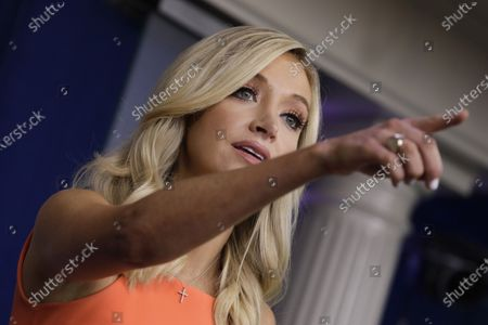 White House Press Secretary Kayleigh McEnany speaks during a press briefing at the White House in Washington, DC.