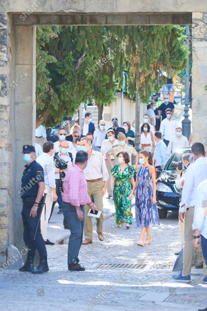 King Felipe VI, Queen Letizia visit to the courtyards in the old town