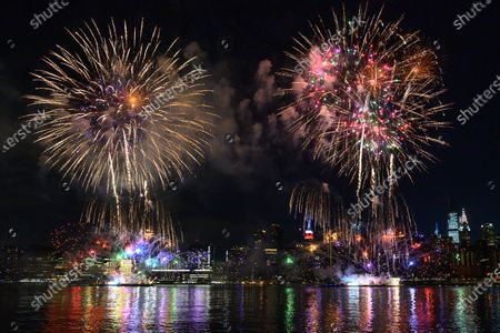Editorial image of Macy's 4th of July fireworks display, New York, USA - 29 Jun 2020