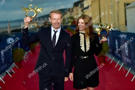 Stock Photo of Lambert Wilson and Chiara Mastroianni