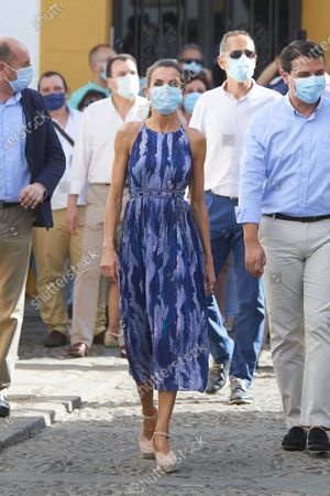 Queen Letizia visited the courtyards in the old town in Cordoba, Spain. This trip is part of a royal tour that will take the royals through all Spanish autonomous communities with the objective of supporting economic, social and cultural activity after the Coronavirus outbreak.