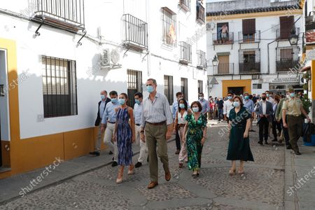 Queen Letizia and King Felipe VI visited the courtyards in the old town in Cordoba, Spain. This trip is part of a royal tour that will take the royals through all Spanish autonomous communities with the objective of supporting economic, social and cultural activity after the Coronavirus outbreak.