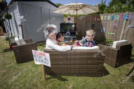 Editorial photo of Glast-Home-Bury Festival, UK - 27 Jun 2020